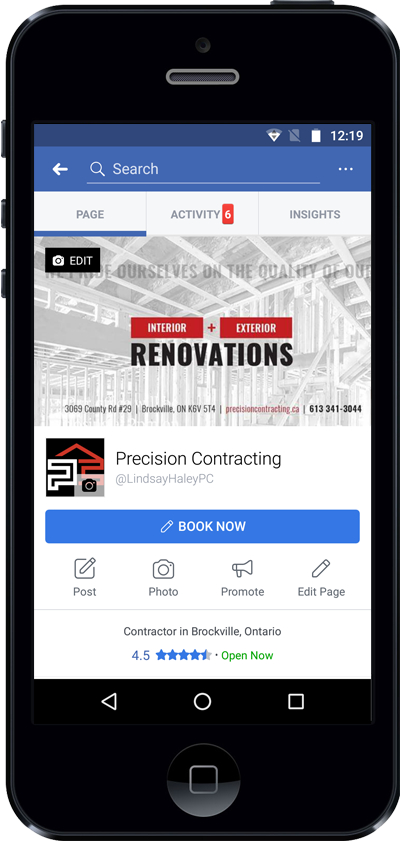 Precision Contracting Facebook