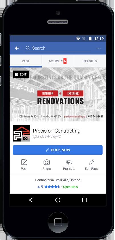 Precision Contracting Facebook